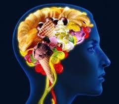 cerebro con comida