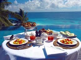 desayuno y paisaje